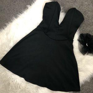 Lowcut Black Dress